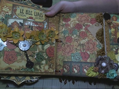"Scrapbook Album: Steampunk, 8""x8"" Chipboard Mini"