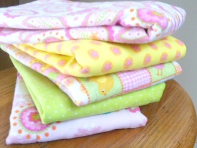 Sew a Quick Flannel Burp Cloth - DIY Crafts - Guidecentral