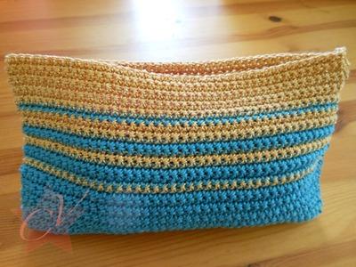 Small Trendy Simple Crochet Bag - Tutorial