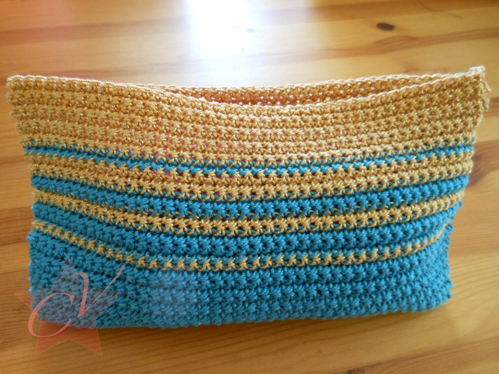 Small Trendy Simple Crochet Bag