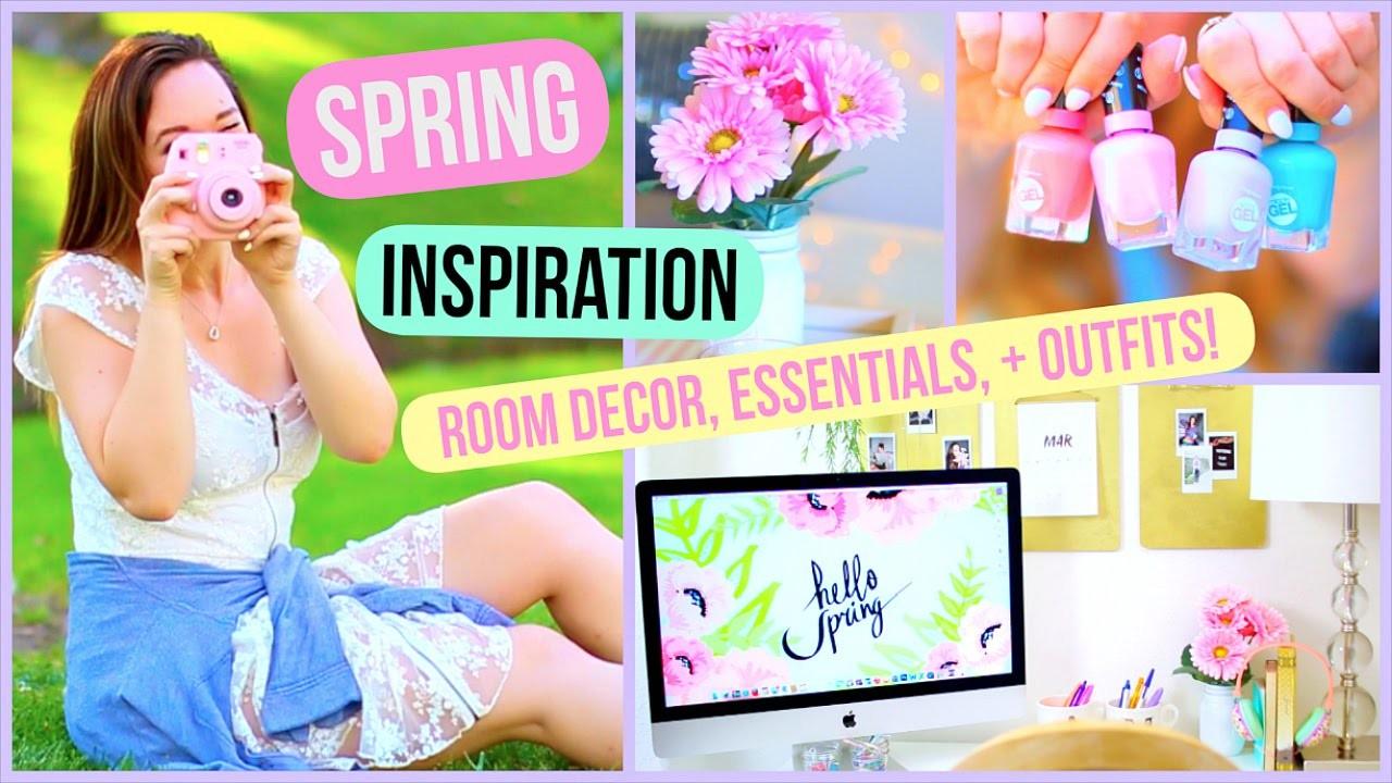 Spring Inspiration! DIY Room Decor, Essentials, + Outfits!