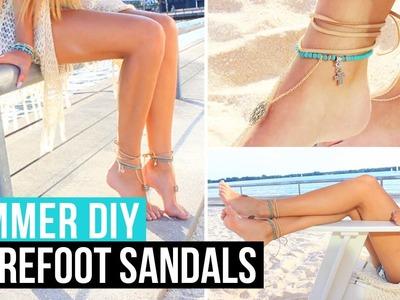 SUMMER DIY: Barefoot Sandals.Foot Chain | LaurDIY