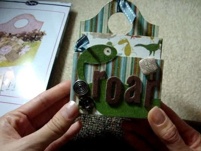 Teenie Weenie Dinosaur Boy Mini Scrapbook Album in a Caddy (Sizzix XL Die)