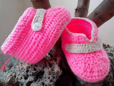 Zapaticos Para Bebe En Crochet 3-6 meces