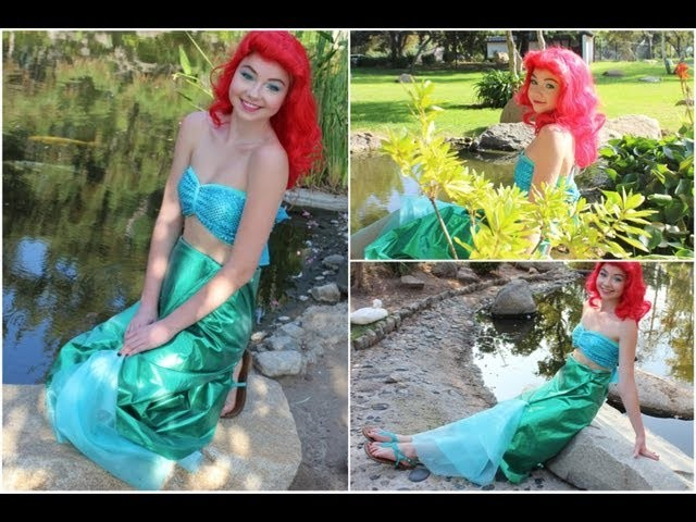 Ariel Halloween DIY Costume, Makeup, & Hair!
