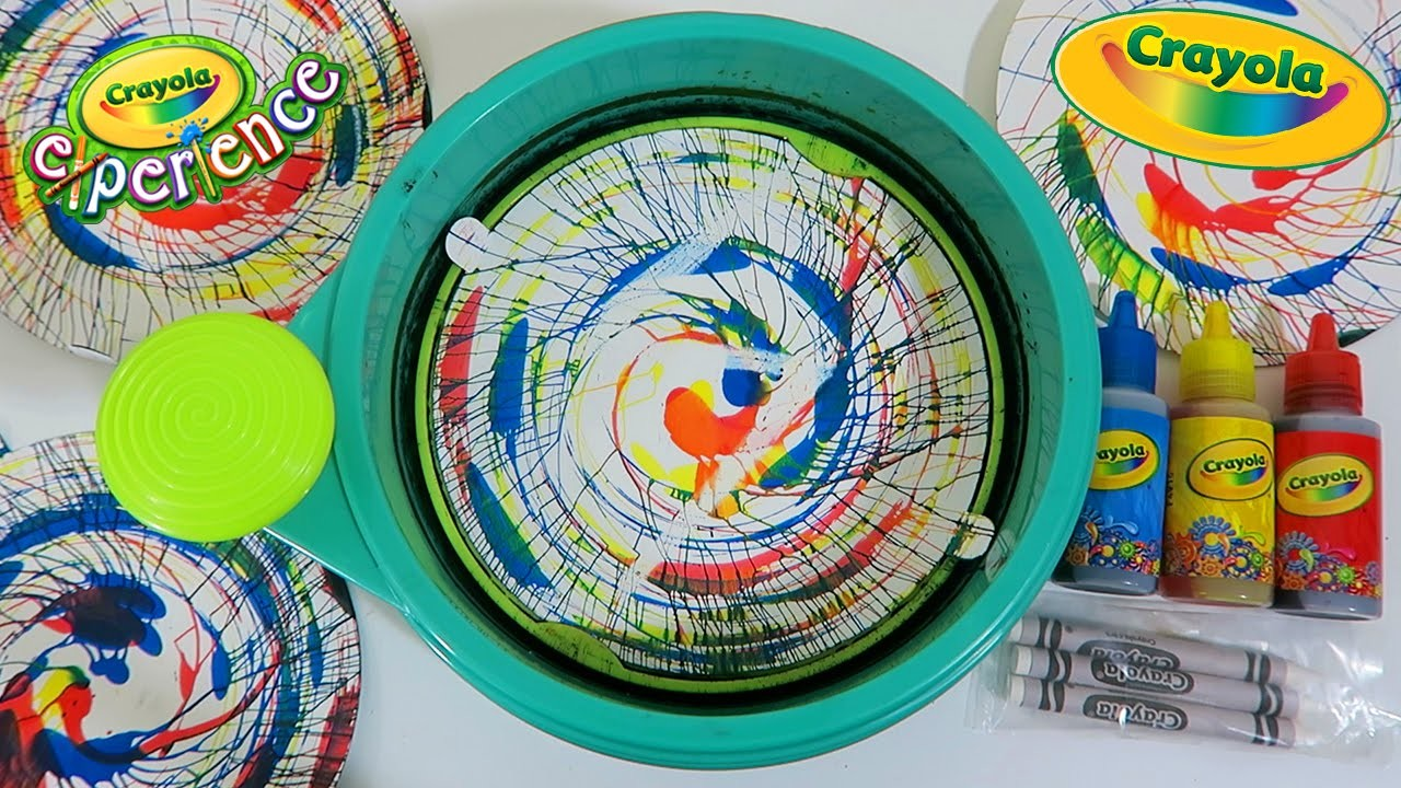 Crayola Spin Art Maker Playset | DIY Make Your Own Swirly Spin Art Play Kit!