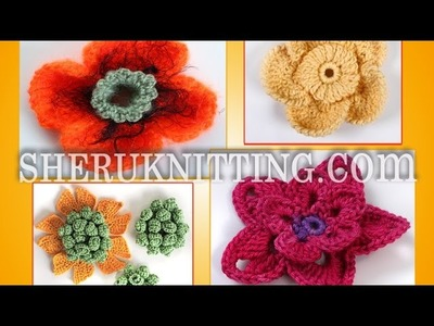 Crochet 3D Flowers Collection Part 2 of 3