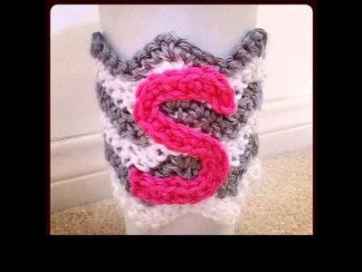 Crochet letters on a blanket