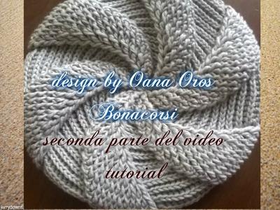 Crochet swirl beret II