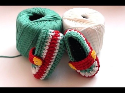 Crochet Toffee Apple Baby Booties by Crochet Hooks You