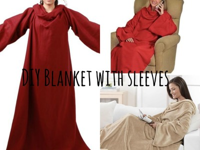 DIY blanket with sleeves