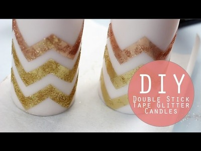 DIY Glitter Candles | Holiday Crafting