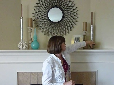 DIY Home Decorating Ideas - Coastal Mantle Decorations