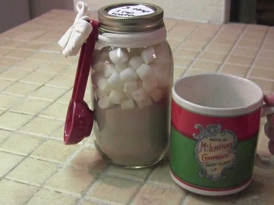 DIY- HOT COCOA MIX JAR GIFT IDEA- how to make - cheap and easy