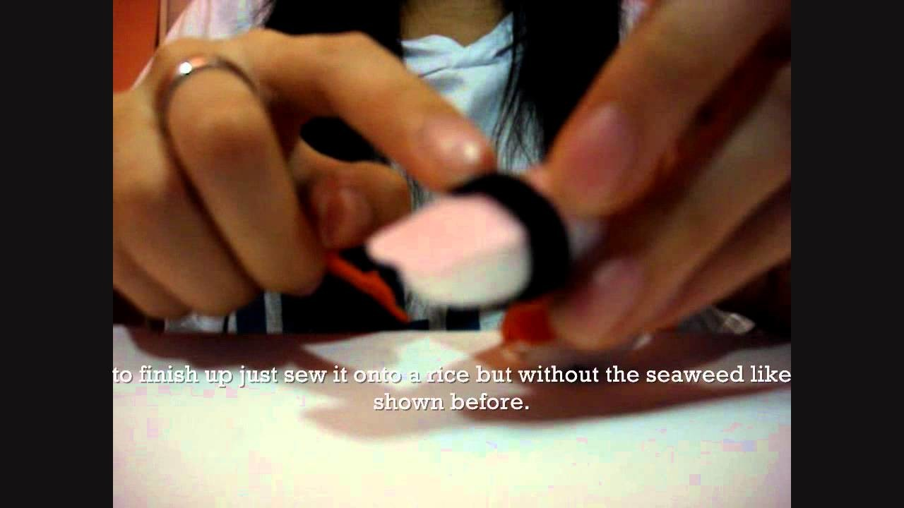 DIY- How to make Cute Sushi Keychains Phonechains