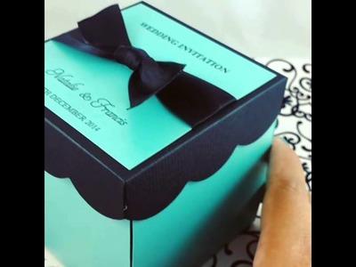 DIY KIT Wedding Exploding Box Invitations w. Cake