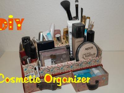 DIY Makeup Organizer. Kosmetik Organizer selber machen. DIY cosmetic organizer