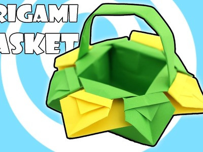 DIY: Origami Easter Basket with Handles Instructions