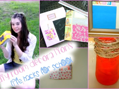 DIY Room Decorations + Life Hacks for Back To School!