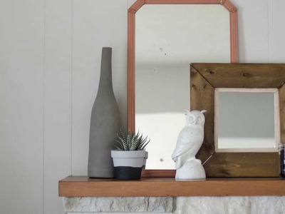 DIY Rustic Framed Pallet Wood Mirror with Colleen
