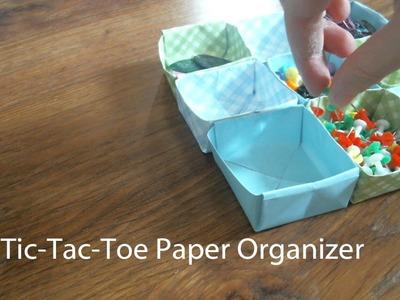 DIY Tic-Tac-Toe Paper Organizer