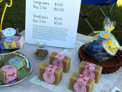 First time selling my soap at the craft fair