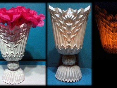 Folding Design Projects - Flower Vase 2 (Origami - PaperCraft)