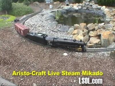 Garden Trains: Aristo-Craft Live Steam Mikado - Run around the Garden