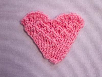 Herz mit Sternen - Heart with stars - Strickmuster - Knitting pattern