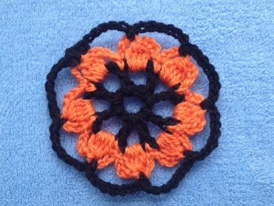 How to Crochet a Circle Flower Motif Pattern #11 │ by ThePatterfamily