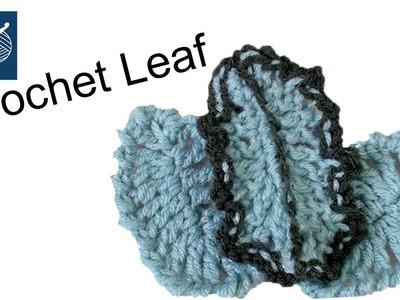 How to Crochet a Leaf Left Hand Crochet Geek