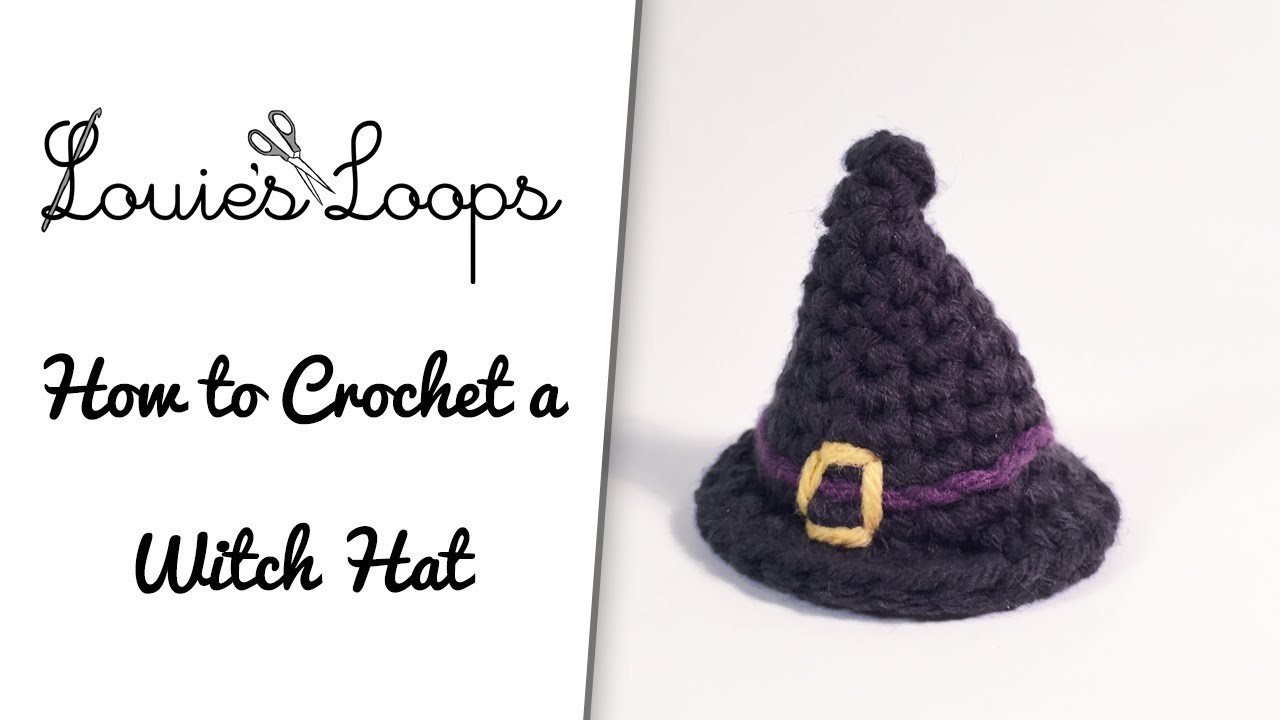How to crochet a Witch. Wizard Hat