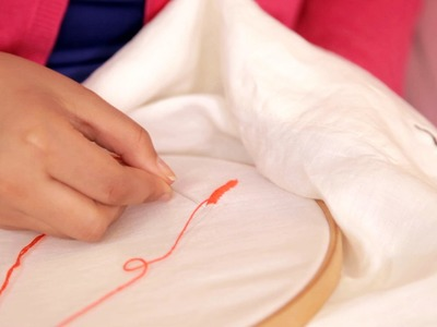 How to embroider a sheet