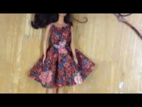 How to make a no-sew doll dress