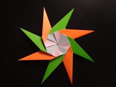 How to make a paper  star origami