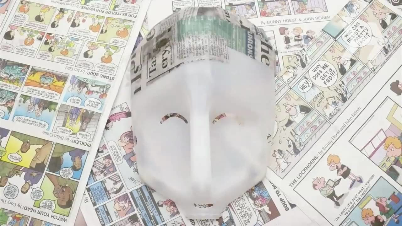 How to Make a Papier-Mache Mask