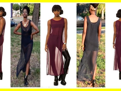 How to make a sheer maxi dress DIY