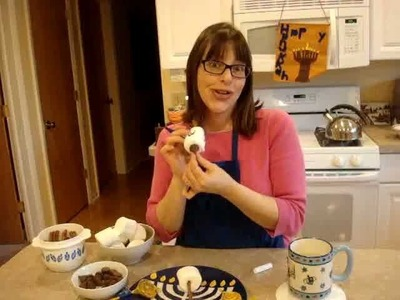 How to Make Marshmallow Dreidels for Chanukah