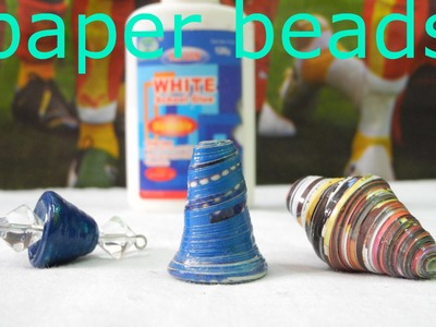 How to make Paper bead Cone  #D.I.Y