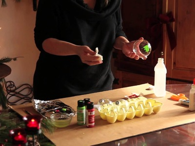 How to Paint Glass Ball Ornaments : Ornament Crafts