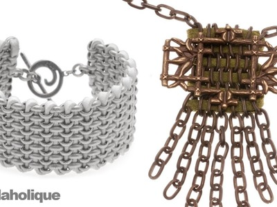 How to Weave Faux Suede Cord Through Chain