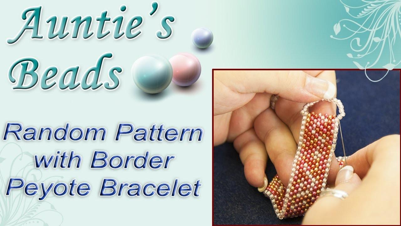 Karla Kam - Random Pattern with Border Peyote Bracelet