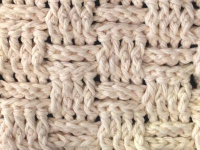 LEFT HAND Basket Weave Crochet Stitch - Lesson