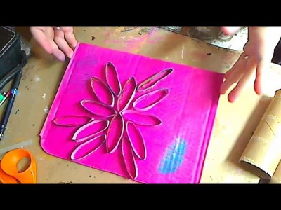 LIVE-Recycled Craft with papertowel rolls