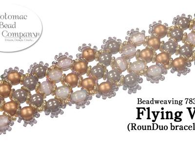 """Make a """" Flying V """" RounDuo bracelet"""