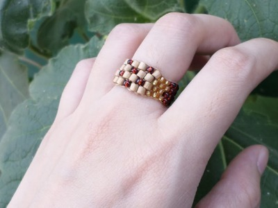 Make a Simple Woven Bead Ring - DIY Style - Guidecentral