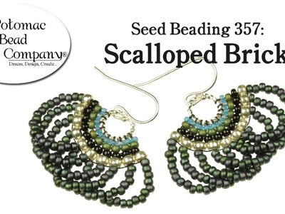 Make Scalloped Brick Stitch Earrings