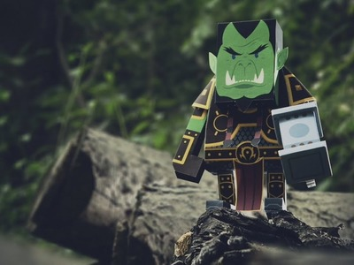 Momot x Blizzard Papercraft collaboration