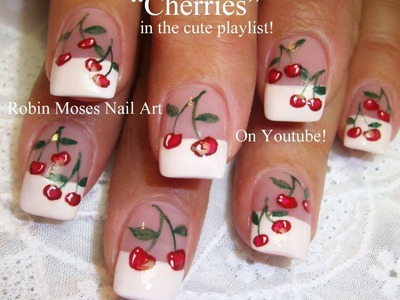 Nail art Tutorial | Easy Cherry Nails | Summer Cherries Nail Design