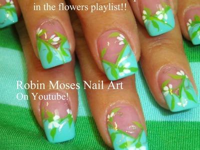 Nail Art Tutorials | DIY Easy White Flowers on Mint Design Tutorial